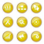 SEO Internet Sign Button Icon — Stockvektor