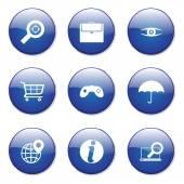 SEO Internet Sign Button Icon — Stock Vector