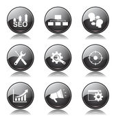 SEO Internet Sign Icon Set — Stockvektor