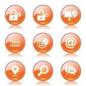 SEO Internet Sign Icon Set — Stock Vector