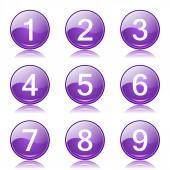 Zahlen zählen Icon-set — Stockvektor