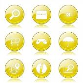 Seo internet teken pictogrammenset — Stockvector