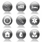 Hospital Health Icon Set — Stok Vektör