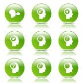 Think Web Internet Icon Set — Stock Vector