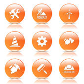 Conjunto de iconos de herramientas de construcción — Vector de stock