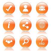 Web Internet Icon Set — Stock Vector
