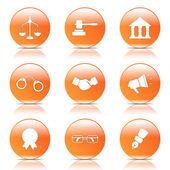 Law Sign Icon Set — Stockvector