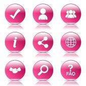Web Internet Icon Set — 图库矢量图片