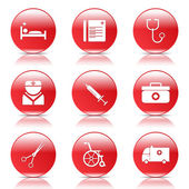 Hospital Health Icon Set — Stockvektor