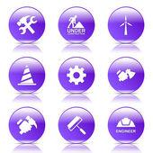 Conjunto de ícones de ferramentas de construção — Vetor de Stock