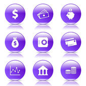 набор иконок финансовой банковской — Cтоковый вектор