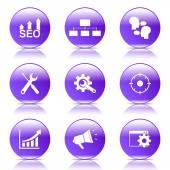 SEO Internet Sign Icon Set — 图库矢量图片