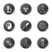 Science Instruments Icon Set — Vetor de Stock
