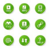 Multimedia Web Internet Icon Set — Stock Vector
