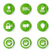 Protection Web Internet Icon Set — Stockvektor