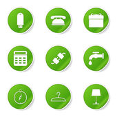House Equipments Icon Set — Wektor stockowy