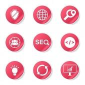SEO Internet Sign Icon Set — Stok Vektör