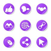 Social Internet Icon Set — Vettoriale Stock