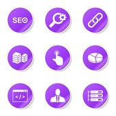 SEO Internet Sign Icon Set — Vector de stock