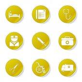Conjunto de iconos de salud hospital — Vector de stock