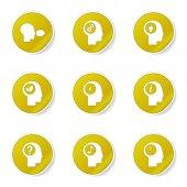 Think Web Internet Icon Set — Wektor stockowy