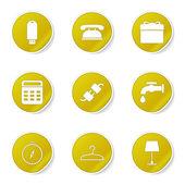 House Equipments Icon Set — Cтоковый вектор