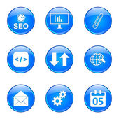 Seo Интернет знак икона set — Cтоковый вектор