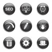 SEO Internet Sign Icon Set — Stok Vektör