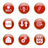 SEO Internet Sign Icon Set — Stockvektor