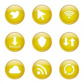 Web Internet Social Icon Set — Stok Vektör