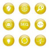 Seo 互联网标志图标集 — 图库矢量图片