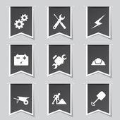Costruzione strumenti set di icone — Vettoriale Stock
