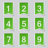 Numbers Counting Icon Set — Stock Vector