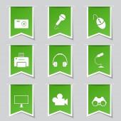 Electronic Equipment Icon Set — Vetor de Stock