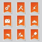 Bouw hulpmiddelen pictogrammenset — Stockvector