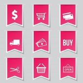 Shopping Sign Icon Set — Stock Vector