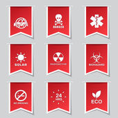 Warning Sig Icon Set — Stock Vector
