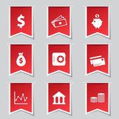 Financial Banking Icon Set — Stock Vector