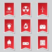Energy Sign And Symbol Icon Set — Stockvector