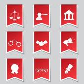 Law Sign Icon Set — Stock Vector
