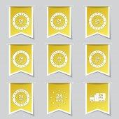 Przez całą dobę usługi zestaw ikon — Wektor stockowy