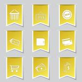 Shopping Sign Icon Set — 图库矢量图片
