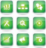 SEO Internet Sign Icon Set — Wektor stockowy