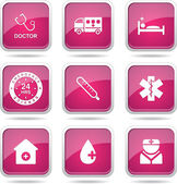 Hospital Health Icon Set — Stockvector