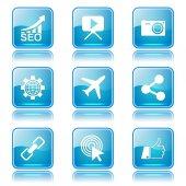 SEO Internet Sign Icon Set — Stock Vector