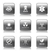 Warning Sign Icon Set — Stock Vector
