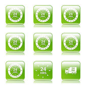 24 Hours Services Icon Set — Cтоковый вектор