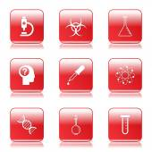 Science Instruments Icon Set — Stock Vector
