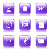 Time Duration Icon Set — Cтоковый вектор
