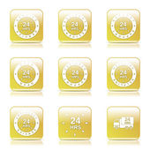 24 Hours Services Icon Set — Stockvector